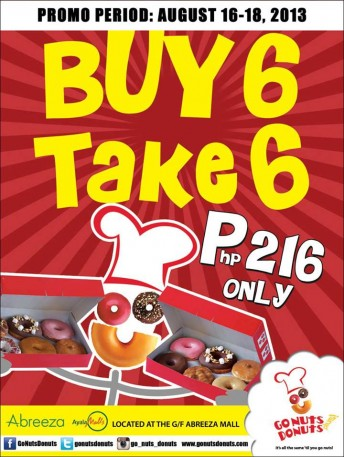 Go Nuts Donuts buy 1 take 1