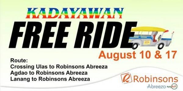 Kadayawan free ride