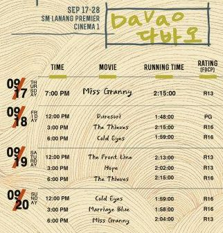 Korean Film Festival Davao schedule