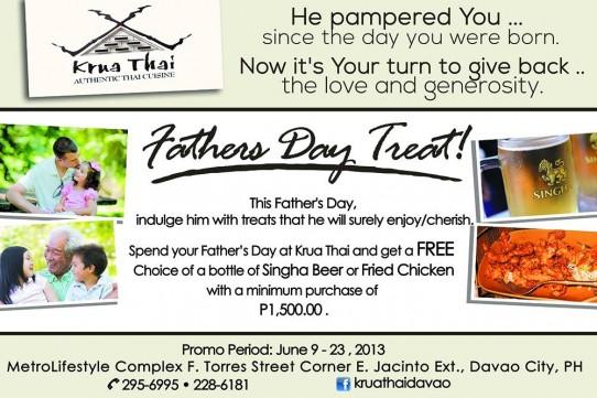 Krua Thai Fathers Day treat