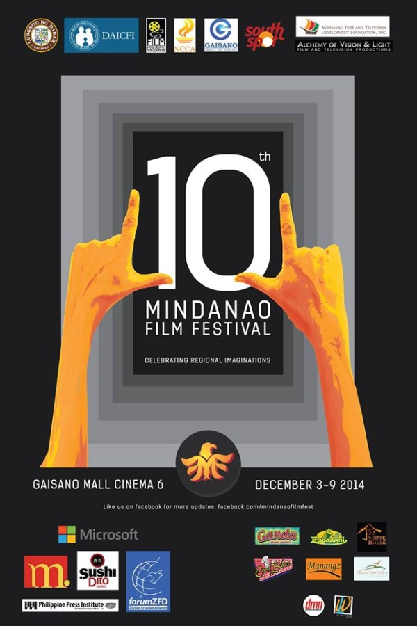 10th mindanao film festival on december 3-9, 2014 at Gaisano Mall of Davao