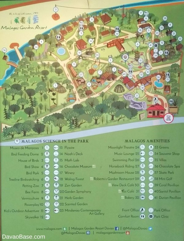 Malagos Graden Resort map