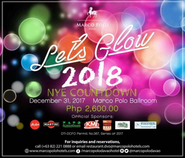 Marco Polo Davao Lets Glow 2018 countdown 2018