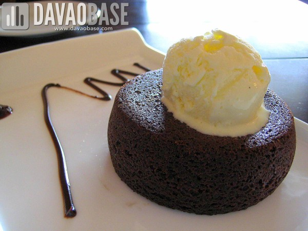 Molten Chocolate Cake at Morisco