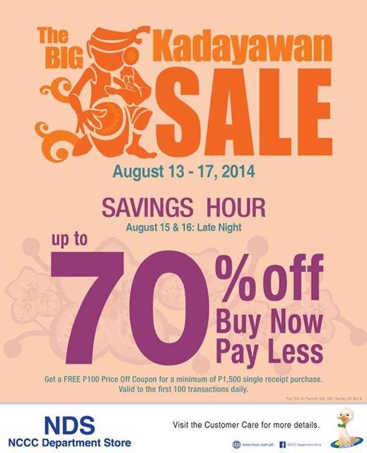 NCCC Department Store kadayawan sale
