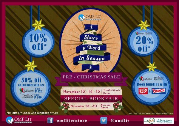 OMF Lit Pre-Christmas Sale Davao