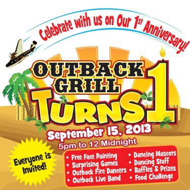 Outback Grill 1st anniversary