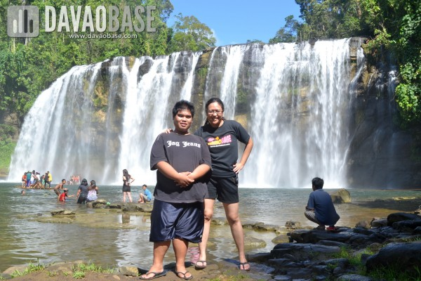 Cousins Paolo and Leah in Tinuy-an Falls