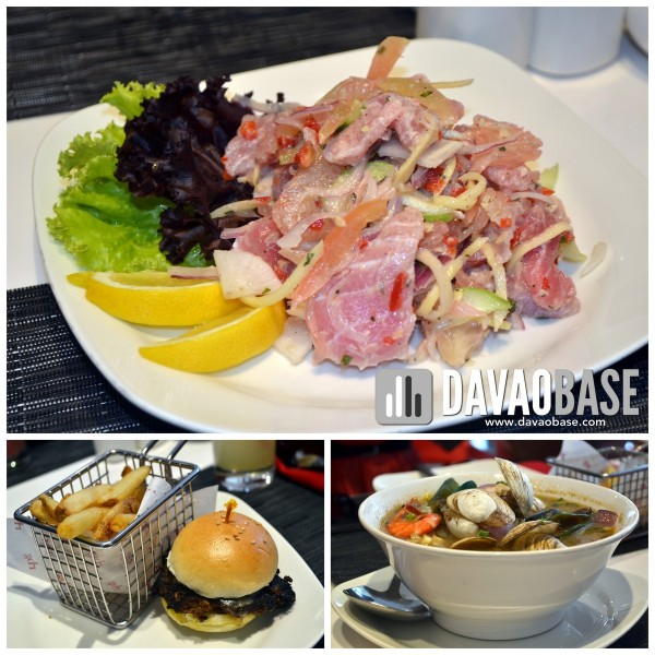 RBG bar and grill appetizers tuna ceviche mini burger with fries seafood sinigang sa mangosteen