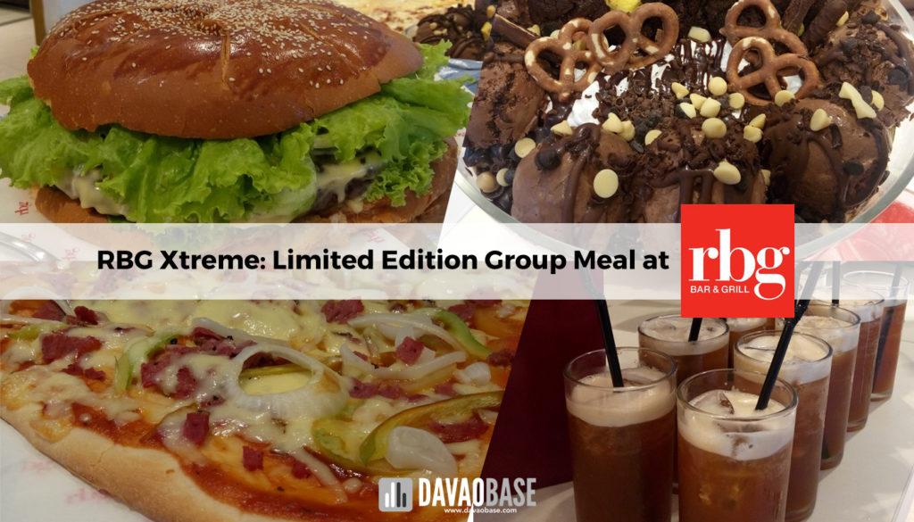 RBG xtreme meal group RBG bar and grill at Park Inn by Radisson Davao