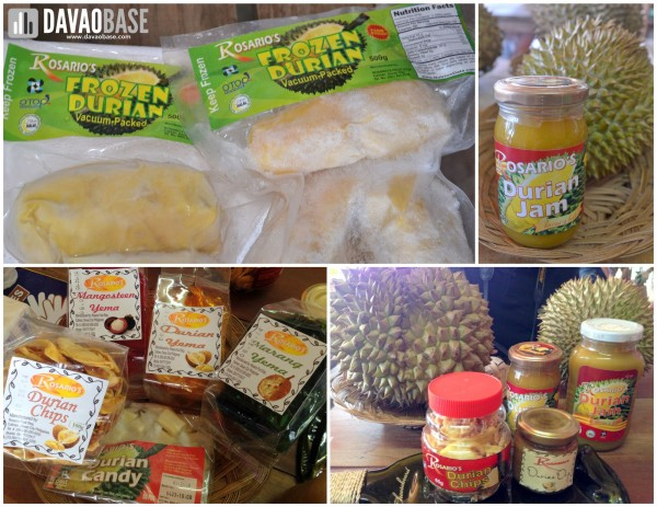 Rosario's durian products