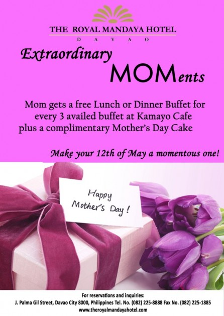 Royal Mandaya Hotel Mothers Day buffet