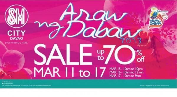 SM City Araw ng Dabaw sale