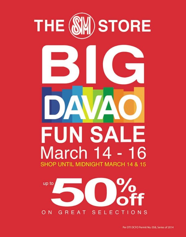 SM Big Davao Fun sale