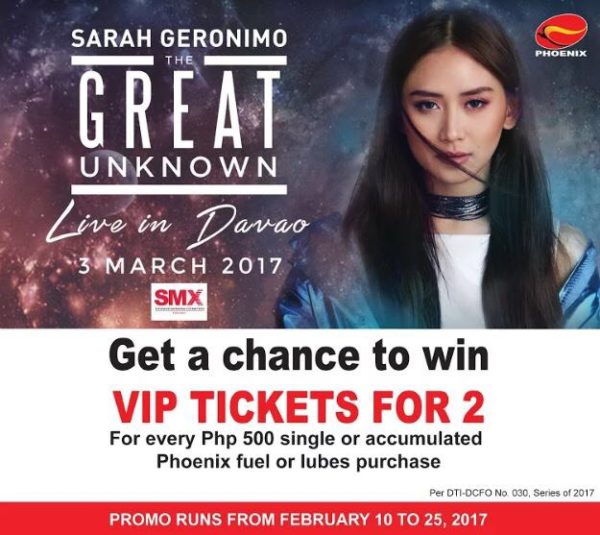 Sarah Geronimo Davao Concert The Great Unknown Phoenix