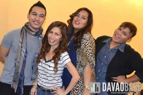 The Voice of the Philippines pose for media - Thor, Eva, Radha and Kim