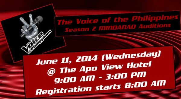 Voice PH auditions in Mindanao