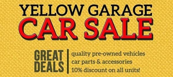 Maybank Yellow Garage Car Sale