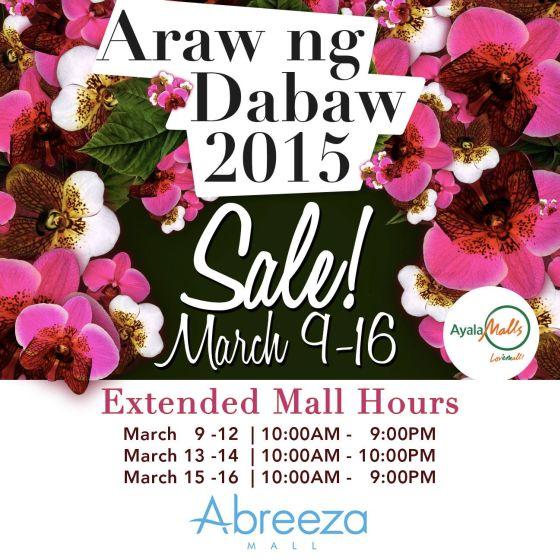 abreeza araw ng davao 2015 sale