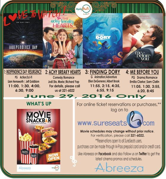 abreeza mall davao movie schedule jun 29 2016