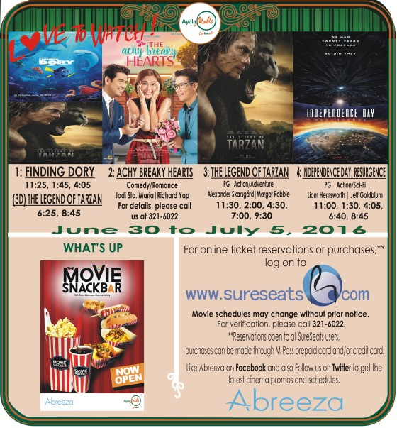 abreeza mall davao movie schedule jun 30 2016