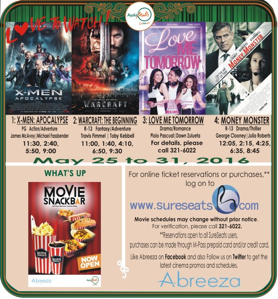 abreeza mall davao movie schedule may 25 2016