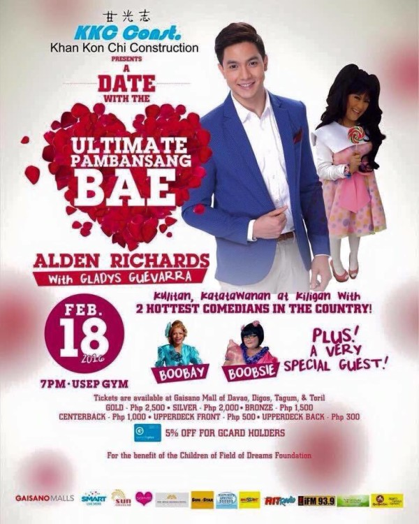 alden richards in davao a date with the ultimate pambansang bae february 18 2016