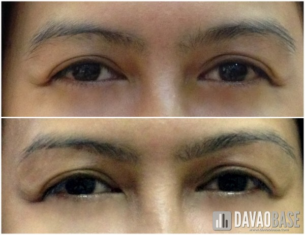 before (above) and after (below) Browhaus threading session