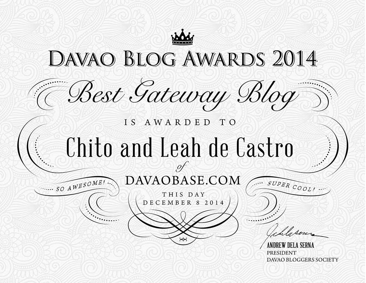 Davao Blog Awards 2014: DavaoBase.com - Best Davao Gateway Blog