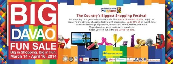 big davao fun sale shopping discounts march 14 april 16 2014