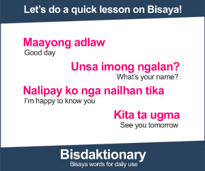 Visit Bisdaktionary: Bisaya words for daily use!