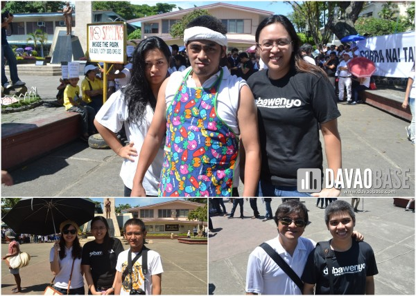 bloggers in Million People March Davao at Rizal Park