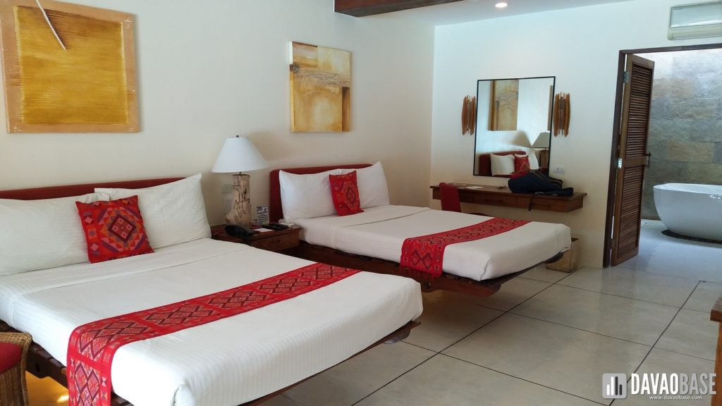 bluewater panglao premier deluxe room two double beds