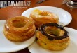 cafe france french donuts cronuts in three flavors: lemon custard, salted caramel, and classic chocolate