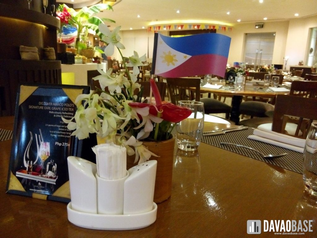 cafe marco table setup for favorite filipino cuisine buffet