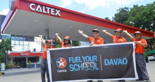 caltex fuel for school davao 2016