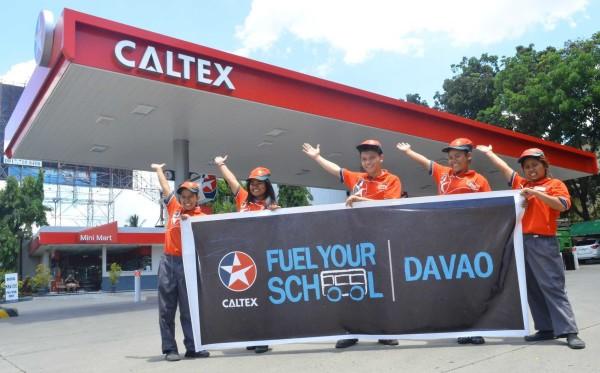 caltex fuel for school davao 2016