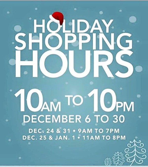 christmas mall hours 2015 gaisano mall davao toril