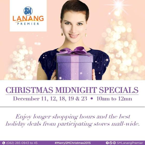christmas mall hours 2015 sm lanang premier midnight sale