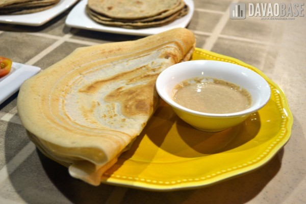curry express dosa with peanut chutney