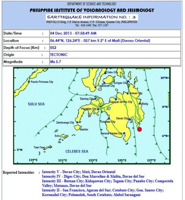 davao earthquake december 4 2013