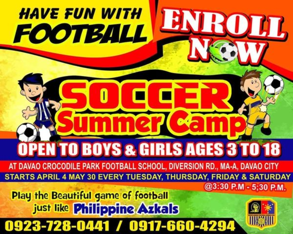 davao summer classes 2017 crocs davao football club