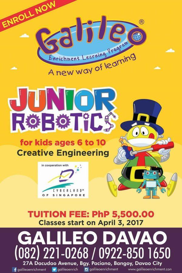 davao summer classes 2017 galileo junior robotics class