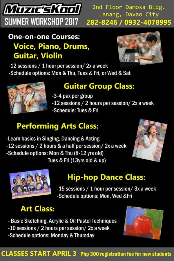 davao summer classes 2017 muzicskool