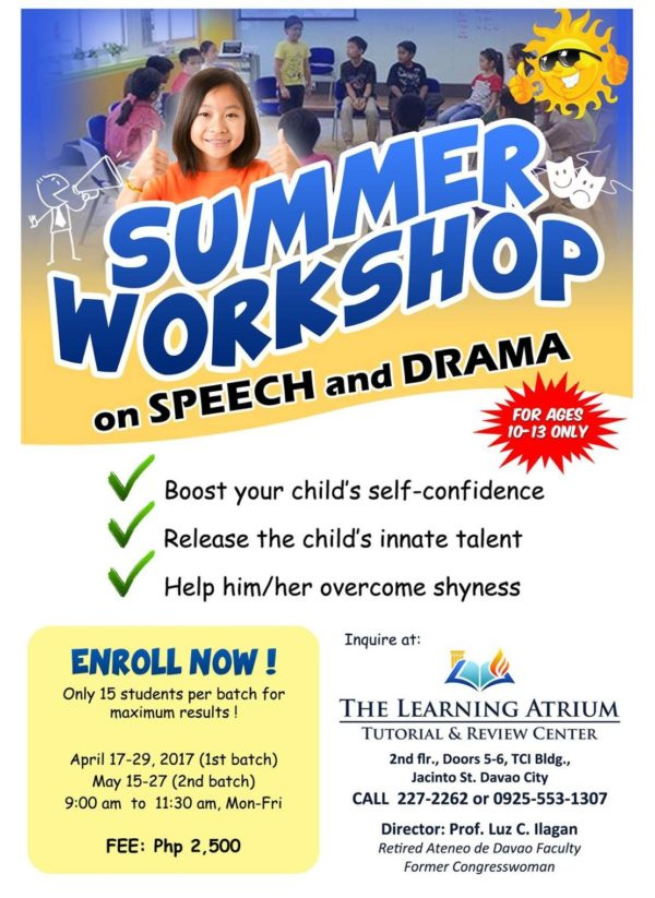 davao summer classes 2017 the learning atrium