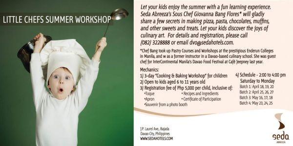 davao summer seda abreeza little chefs summer workshop