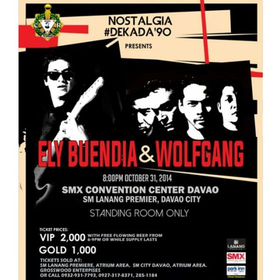 ely buendia wolfgang nostalgia dekada 90 smx convention center sm lanang premier october 31 2014