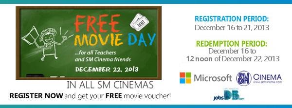free movie at SM Cinemas
