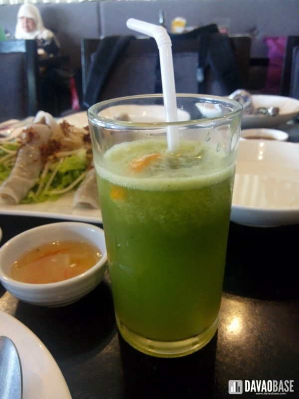 fresh citrus herb juice at Hanoi Vietnamese Cuisine