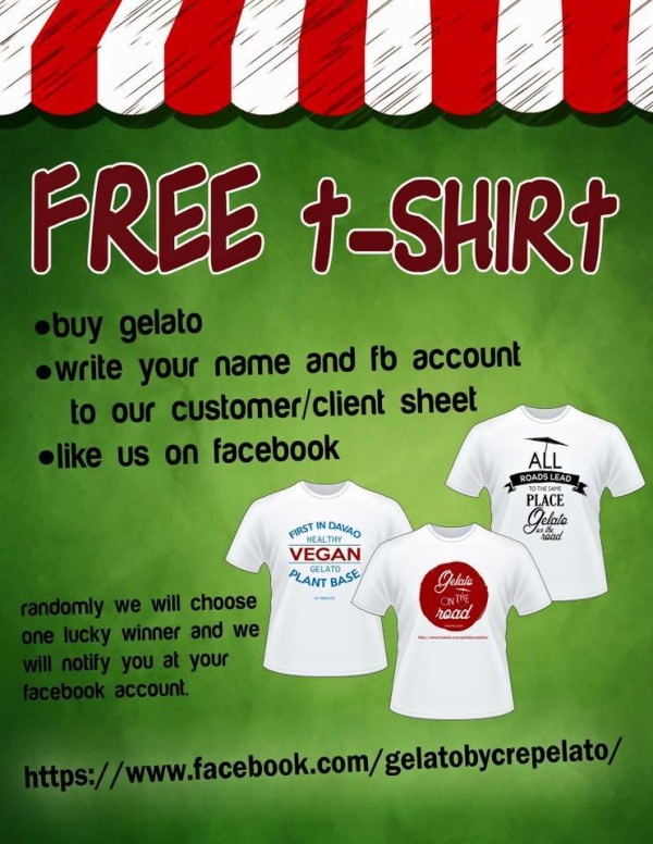gelato on the road free t-shirt